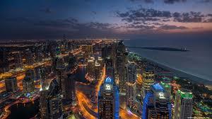dubai marina at night united arab emirates uhd 4k wallpaper pixelz