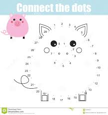 connect the dots numbers children educational game printable