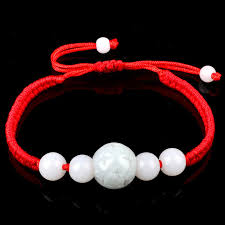 red string bracelet with charm images New fashion chinese stone red string bracelet for woman man jpg