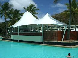 Tiny Swimming Pools Cantilevered Shade Canopy Structures