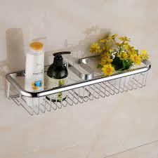 all copper square chrome bathroom shower shelves rose gold rack