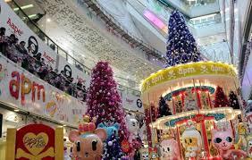 christmas decorations up in hong kong malls entertainment news