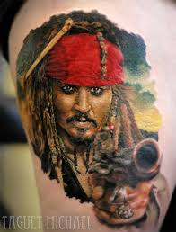 captain jack sparrow best tattoo design ideas