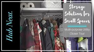 Storage Solutions For Small Spaces Storage Solutions For Small Spaces Hall Closet Edition Youtube