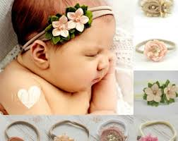baby girl hair bands newborn headband etsy
