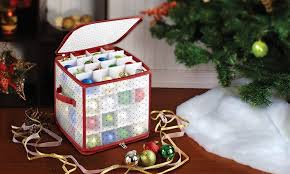 christmas ornament storage christmas light and ornament storage totes groupon