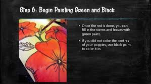 poppy painting visual and text step by step ms artastic