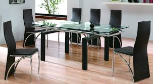 Designer Glass Dining Tables Glass Dining Room Table With Extension With Nifty Dining Room
