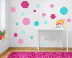 spot decals pink turquoise aqua polka dot wall stickers nursery reusable spot stickers pink turquoise polka dot fabric wall sticker decals reusable set of 19 circles pink aqua girls bedroom baby room wall decals for