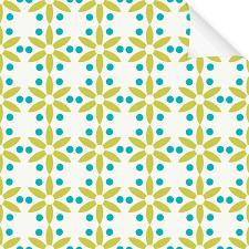 Muster Blau Grün Klebefolie Dekor Muster Blume Gr禺n Blau Dekofolie