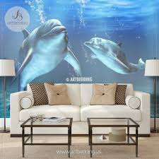 Stick And Peel Wallpaper by Dolphins Wall Mural Dolphins Self Adhesive Peel U0026 Stick Photo