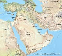 Physical Africa Map by Middle East Physical Map