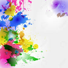 colorful watercolor stains and drops background backdrop