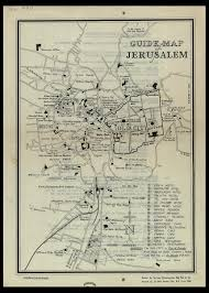 Map Of Jerusalem File Guide Map Of Jerusalem Drawn By Survey Directorate H Q Pal