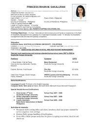 resume proper format correct format of resume proper format for