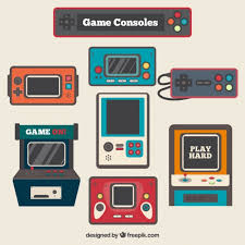 design games to download vintage video game consoles in flat design vector free download