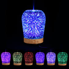 aromatherapy diffuser 3d color change led light humidifier