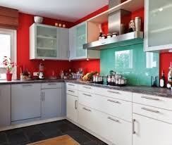 Red Kitchen With White Cabinets Kitchen Red Walls Old Farmhouse Kitchen Red Country Kitchen