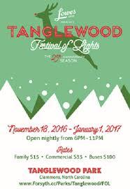 2016 tanglewood festival of lights calendar journalnow com