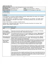 meeting project meeting minutes template