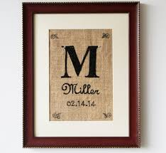 Wedding Wall Decor Shop For Handmade Burlap Initial Marriage Date In Sequin Wall Art
