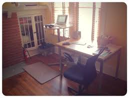 my sewing room office with ikea furniture malm desk kallax shelf