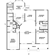 southern style house plan 3 beds 2 baths 1437 sq ft plan 81 221