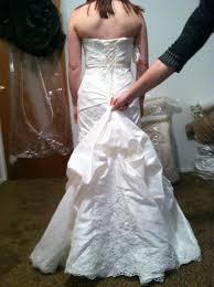 wedding gown alternations u2013 corset back and bustle weddingbee