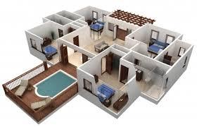 outstanding 25 more 3 bedroom 3d floor plans 9 loversiq free 3d 3