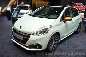 peugeot white peugeot 208 roland garros front three quarter indian autos blog