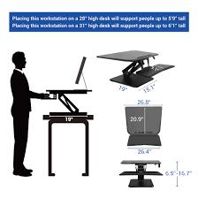 Tall Chairs For Standing Desks by Standing Desk Converters Compactriser Flexispot