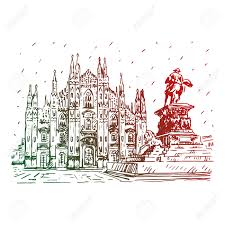 239 milan cathedral stock vector illustration and royalty free