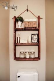 Cabinet That Goes Over Toilet Add More Shelving Space To Your Small Bathroom With Over The