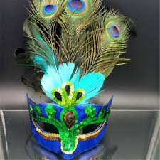 peacock masquerade masks peacock feather venetian mardi gras masquerade mask party