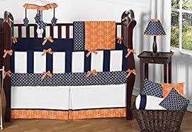 Bright Crib Bedding Sweet Jojo Designs 9 Modern Bright Orange And