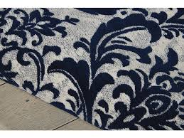 Navy Area Rugs Das02 Ivory Navy Floor Coverings Nourison Damask Ivory Navy Area Rug