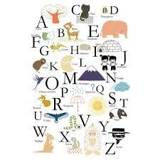lettre decorative pour chambre b affiche alphabet abc annelore parot pour poisson bulle poisson