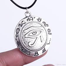 vintage silver pendant necklace images Wholesale vintage silver plated alloy round egyptian hieroglyphs jpg