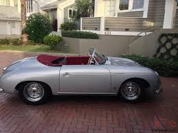 old porsche speedster vintage speedster 356 replica silver convertible 2 door