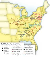 Map Of Norfolk Virginia by Norfolk Southern Trains Magazine