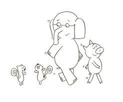 elephant piggy party ideas images mo coloringeast