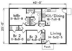 3 Bedroom House Plans In 1000 Sq Ft 1000 Square Feet 3 Bedrooms 2 Batrooms 2 Parking Space On 1