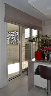 contemporary bar room design with gorgeous sliding door shade