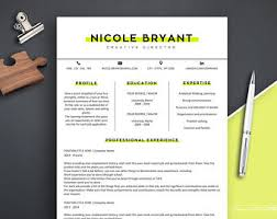 Sample Resume Of A Teacher by Resume Design Etsy