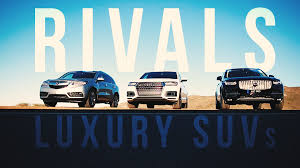 acura mdx vs lexus vs audi rivals living the high life with three of the richest suvs