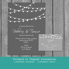 Accommodation Cards For Wedding Invitations String Lights Wedding Invitation Simple Gray And White