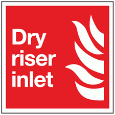 Dry Riser Cabinet Dry Riser Inlet Sign