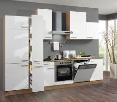 roller einbauküche roller küchenblock madras nussbaum weiß 300 cm einbauküche