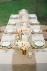 burlap table runners rustic weddings or events 60x12