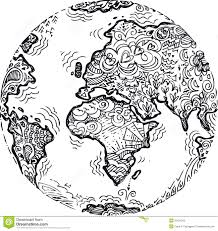 planet earth sketched doodle by carla f castagno via dreamstime